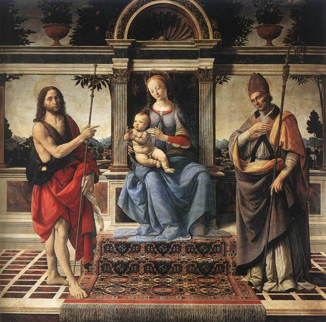 Andrea_del_Verrocchio_-_Madonna_with_Sts_John_the_Baptist_and_Donatus_-_WGA24995